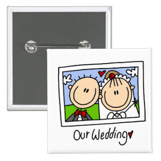 Our Wedding Photograph Tshirts and Gifts Pinback Buttons