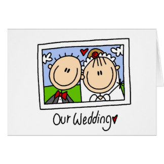 Our Wedding Photograph Tshirts and Gifts Card