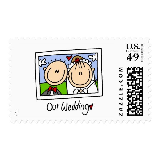 Our Wedding Photograph Tshirts and Gifts Postage