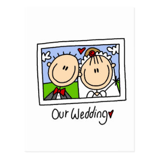 Our Wedding Photograph Tshirts and Gifts Postcard