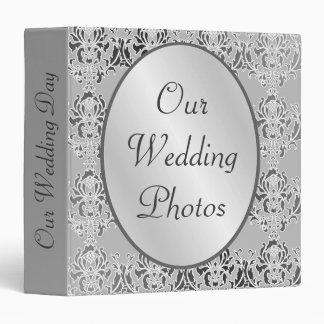 Our Wedding Photos Damask Album 3 Ring Binder