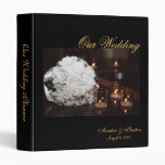 Our Wedding Planner Roses & Candle Wedding Binder