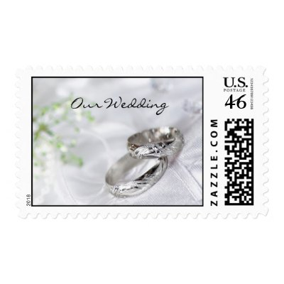 Our Wedding Platinum Wedding Band Postage by weddingsNthings