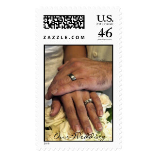 Our Wedding postage stamp