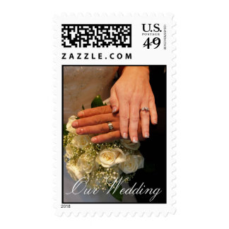 Our Wedding Postage Stamps