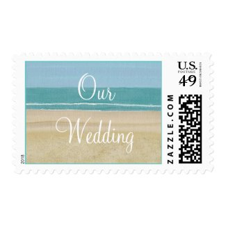 Our Wedding postage stamps, Sandy beach and ocean