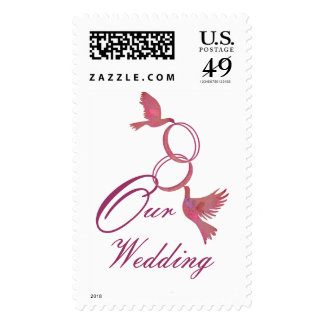 Our Wedding rings and birds stamp