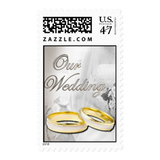 our wedding rings postage stamp