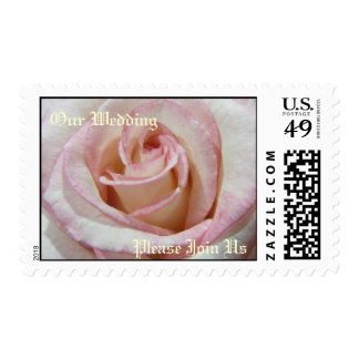 Our Wedding Rose Postage