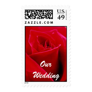 OUR WEDDING ROSE POSTAGE STAMP