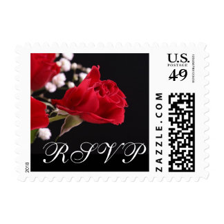 Our Wedding Rose RSVP Postage