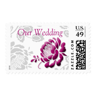 Our Wedding Sangria Peony Wedding Stamps