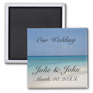 Our Wedding Save The Date 2 Inch Square Magnet