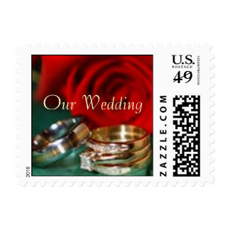 Our Wedding small Postage Stamp
