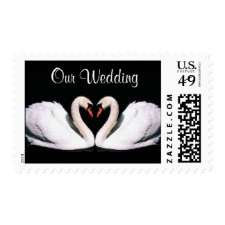 Our Wedding Swan Stamps