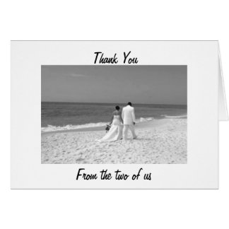 OUR WEDDING THANK YOU - CHERISHED MEMORIES CARD