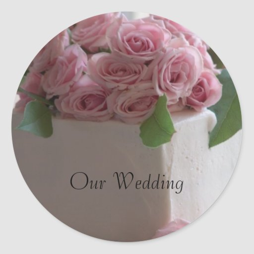 wedding cake bag stickers our wedding wedding cake sticker zazzle 21785