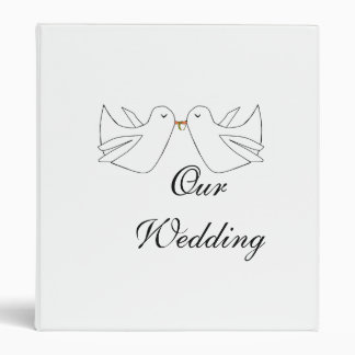 Our WeddingLove Doves 3 Ring Binder
