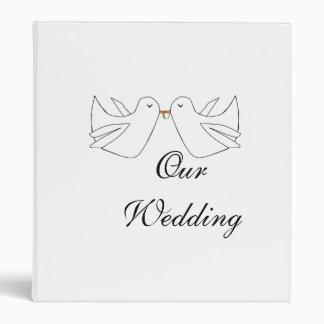 Our WeddingLove Doves Vinyl Binder