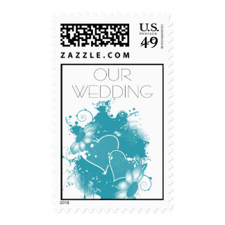 OUR WEDDONG POSTAGE STAMPS