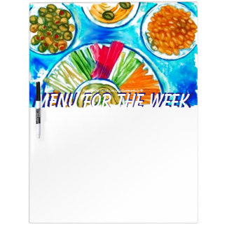 """Our Weekly Menu"" Dry-Erase Whiteboard"
