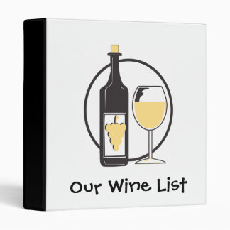 Our Wine List 3 Ring Binder