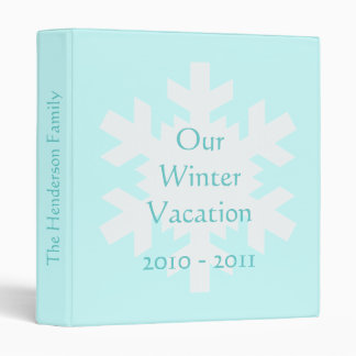 Our Winter Vacation 3 Ring Binder