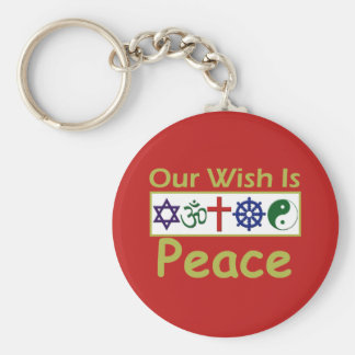 Our Wish Is PEACE Keychain