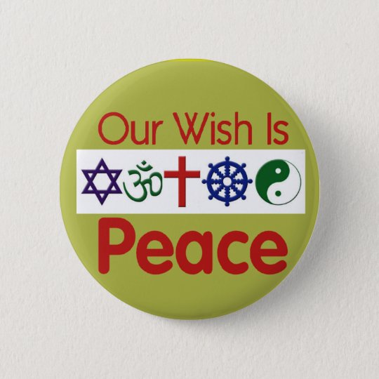 Our Wish PEACE Button