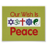 Our Wish PEACE Poster