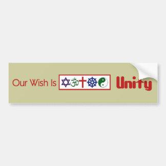 Our Wish UNITY Bumper Sticker