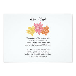 'Our Wish' Wedding Day Custom Invitation