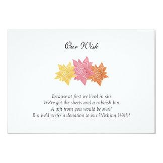 'Our Wish' Wedding Day Custom Invitation
