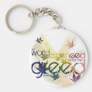 Our world has enough for each person's need... basic round button keychain