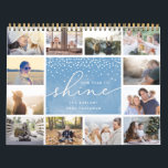 "Our Year to Shine | 2019 Photo Calendar<br><div class=""desc"">Share a favorite memory on each page of this 2019 photo calendar. Cover features a thumbnail version of each photo with &quot;our year to shine&quot; in the center on a blue watercolor background. Personalize with your family name and the year beneath. Inside, your photos appear in vibrant full bleed with...</div>"