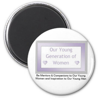 Our Young Generation of Women Logo Fridge Magnet