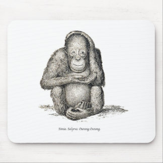 Ourang Outang Victorian Antique Picture Mousepads