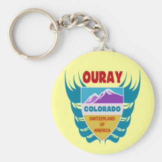 Ouray, Colorado Basic Round Button Keychain