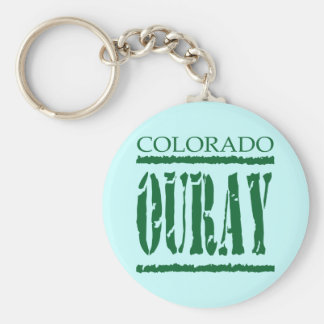 OURAY COLORADO BASIC ROUND BUTTON KEYCHAIN
