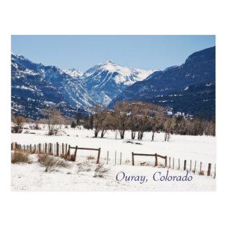 Ouray, Colorado en invierno Tarjetas Postales