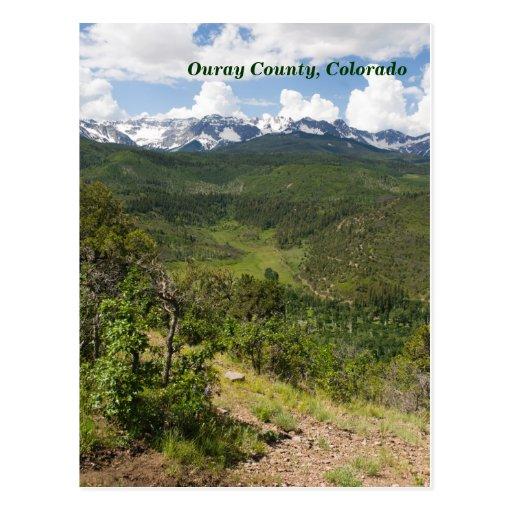 Ouray County, Colorado Postcard