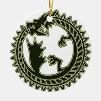 Ouroboros Ceramic Ornament