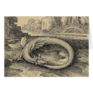 Ouroboros Dragon Biting it's Own Tail Card