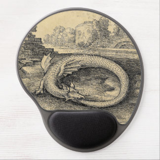 Ouroboros Dragon Biting it's Own Tail Gel Mouse Pad