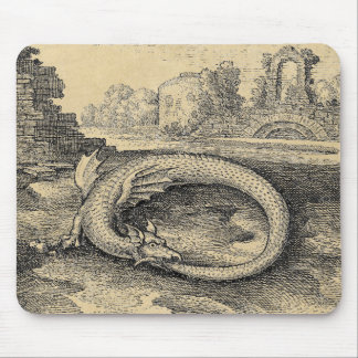Ouroboros Dragon Biting it's Own Tail Mouse Pad