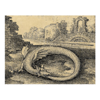 Ouroboros Dragon Biting it's Own Tail Postcard