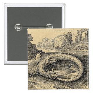 Ouroboros Dragon Symbol Button