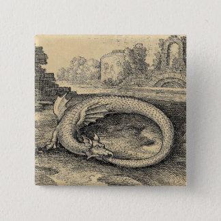 Ouroboros Dragon Symbol Pinback Button