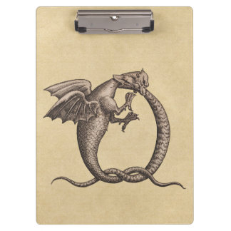 Ouroboros Dragons Sulphur and Mercury Clipboard