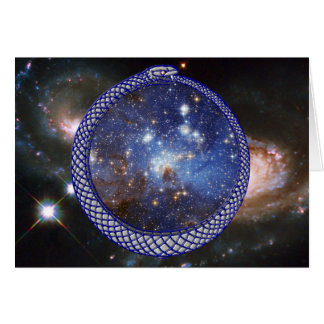 Ouroboros Galaxy - Greeting Card